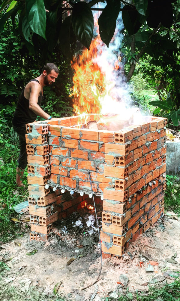 how to build an incinerator brick